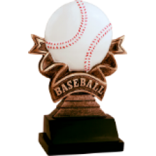 NEW Baseball Ribbon Resin